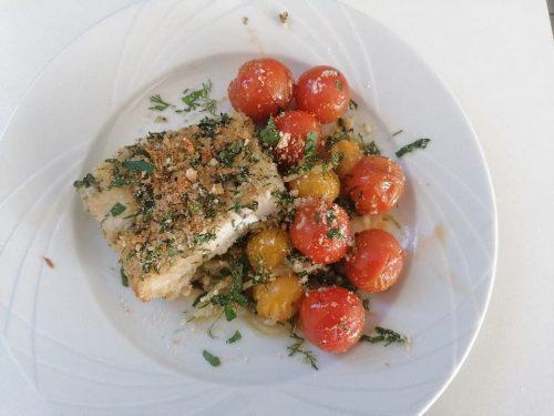 Cuisine végétarienne - Feta - cabillaud pané