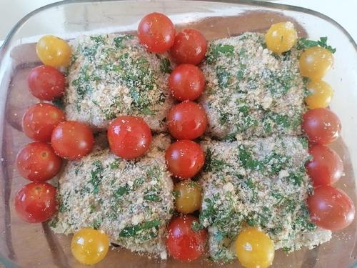 Cuisine végétarienne - Légume-feuille - cabillaud pané