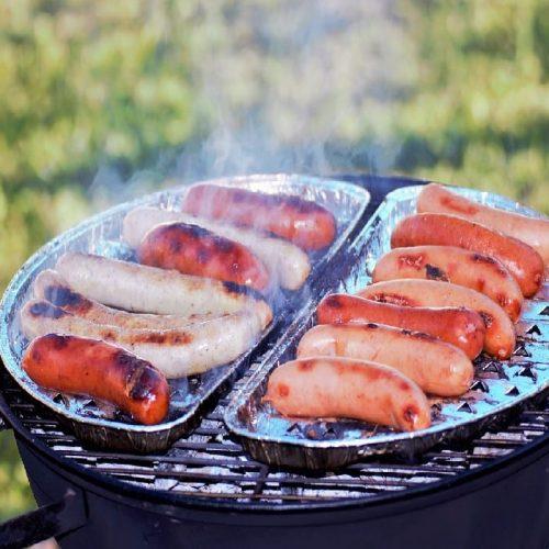 Barbecue portable- bratwurst