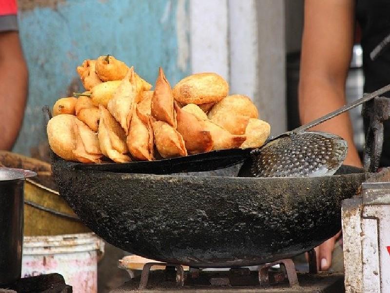 l'alimentation de rue - Pani puri - escapade en inde