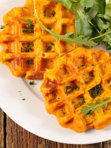 Gaufre - Légume - gaufres de patates douces