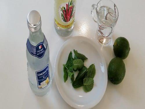 ingrédients pour mojito limonade