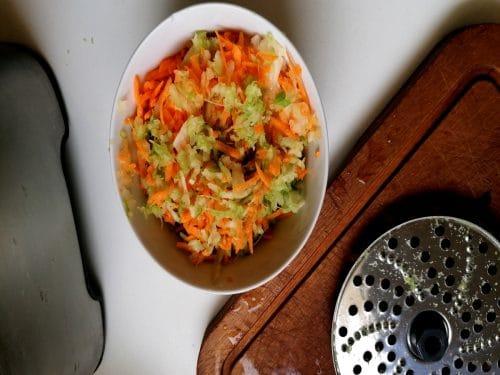 légumes hachés pour le poulet vanillé