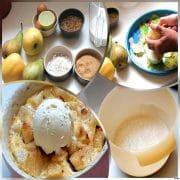 4 gratins pommes poires mozaique
