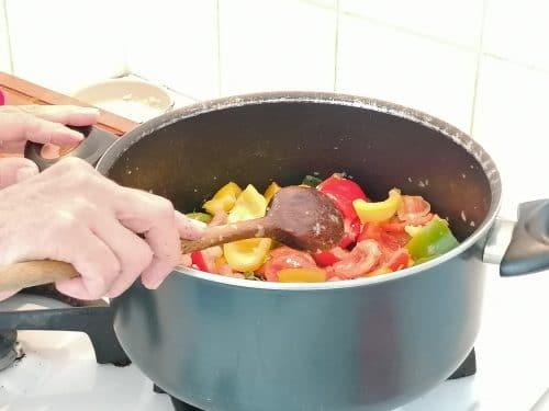 cuisson de la Peperonata Ricetta