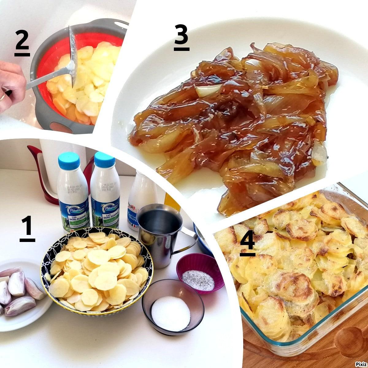 gratin pomme de terre rôti porc étape par étape