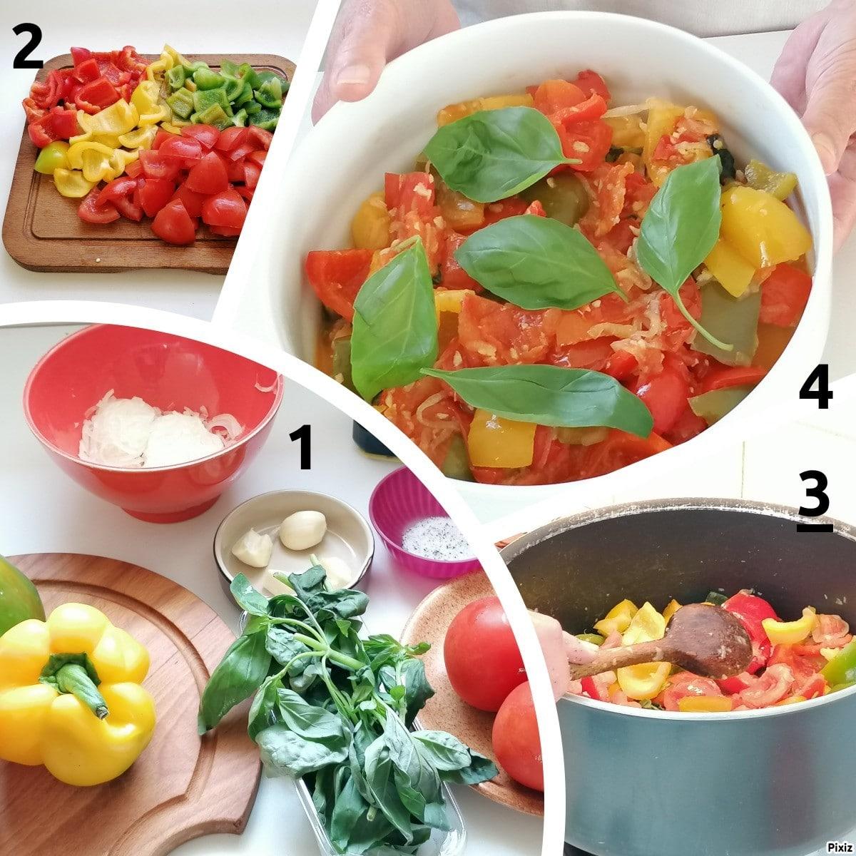 Peperonata ricetta étape par étape