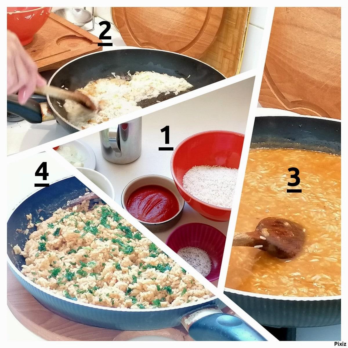 riz rouge étape par étape
