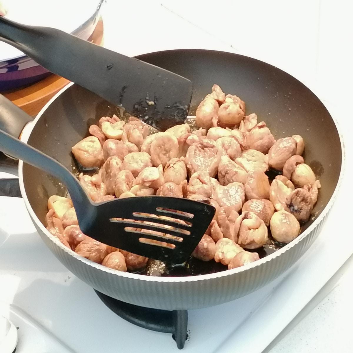 cuisson des châtaignes